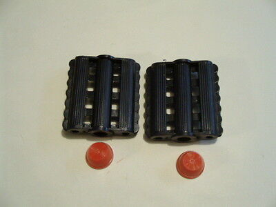 Pedal Car Or Pedal Tractor Pedals Molded Black Plastic 3/8
