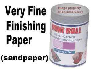 400 grit Very fine Finishing Paper - wood working fine sandpaper 115m x 5m Roll