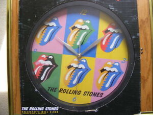 """FS: 2008 """"The Rolling Stones Collector's Wall Clock"""" with Origin London Ontario image 1"""