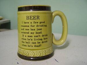Porcelain Beer Stein