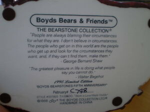 BOYDS BEAR ORNAMENT  RETIRED LIMITED EDITION Windsor Region Ontario image 2