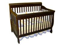 CONVERTIBLE CRIB 4 IN 1, ESPRESSO FINISH