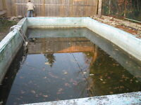 SWIMMING POOL DEMOLITION  SWIMMING POOL FILL INS  POOL REMOVAL