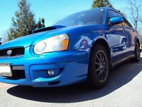 2004 Blue Subaru WRX Wagon with Upgrades
