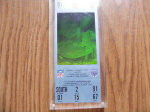 "FS: 1991 ""Super Bowl XXV"" UN-USED Hologram Game Ticket London Ontario image 1"