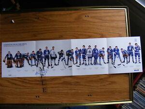 """FS: Allan Stanley (Toronto Maple Leaf """"Alumni"""") Autographed Shee"""