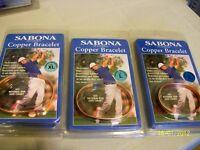 2 Sabona Copper Bracelets - New in Package