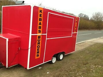 pizza Kebab Burger Van Trailer And Mitsubishi Pajero 4x4