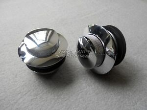 DUAL-CHROME-POP-UP-FLUSH-GAS-CAP-VENTED-HARLEY-DAVIDSON-FUELTANK-FUEL-CAPS-D17