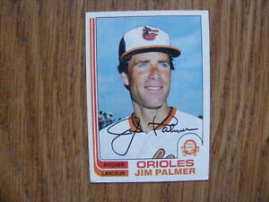 FS: 1982 O-Pee-Chee Jim Palmer (Baltimore Orioles) Card #80 London Ontario image 1