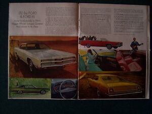 1969 Ford magazine-insert advertising catalog.......all models