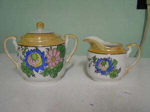 Vintage Japanese Cream and Sugar Set