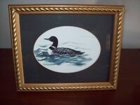 FRAMED DUCK PRINT - Artist is Jeanette Coy