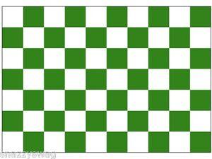 Green and White Checkered Flag 5 ft x 3 ft ! NEW!! Green / White