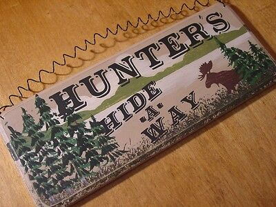 Moose Mountain Lodge Cabin Sign Wood Decor Hunters Hide Away Hunting Home Forest (Mountain Hunting Cabin Lodge)
