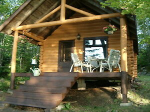 RUSTIC LOG CABIN  *ON LAKE!* CLOSE TO WOLFVILLE/ ACADIA