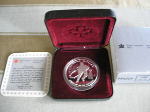 1993 CANADA STANLEY CUP ANNIVERSARY PROOF SILVER DOLLAR COIN
