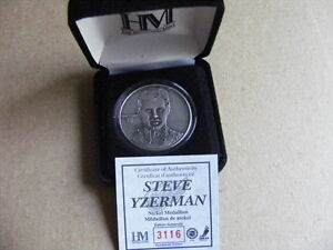 "FS: 2003 Highland Mint ""Steve Yzerman"" Medallion with COA and Ca"