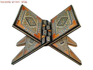 sehr sch ner buchst nder buchst tze koranst nder holz intarsien handarbeit neu ebay. Black Bedroom Furniture Sets. Home Design Ideas