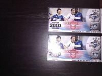 2 Autographed Impact de Montreal Tickets