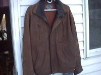 Blouson de cuir aviation ( bomber jacket ) tan/brun