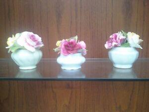 3 SMALL PORCELAIN FLOWER ARANGEMENTS Belleville Belleville Area image 1