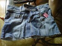 "BNWT Ladies size ""0"" Bongo denim skirt"