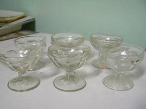 Set of Vintage Sundae Dishes