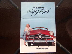 1949 Ford introductory advertising folder London Ontario image 2