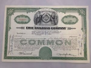 Share-Certificate-The-Erie-Railroad-Railway-Company-1954