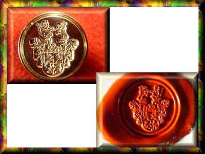 Siegel Petschaft FAMILIENWAPPEN Siegelstempel Wappen GRAVUR nach Ihrer VORLAGE +