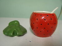Strawberry Shaped Jam Pot