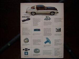 1975 Chevrolet Camaro dealer showroom catalog London Ontario image 4