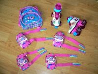 BARBIE PATINS A ROULETTE Roller Skate girls size 12/13 COMPLETE