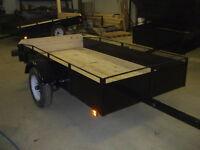 remorque, trailer, neuve, 4X8 dompeur, galvanisé disponible