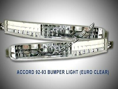 1992 1993 Honda Accord Signal Bumper Lights Euro Clear