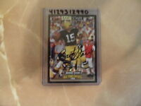 Bart Starr 1996 Jimmy Dean All Time Greats Autographed Card