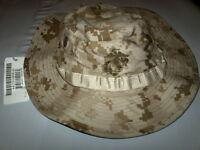 USMC Desert MARPAT Boonie Hat, Large W/ I.R. Deflective, New.