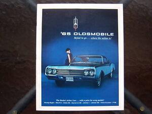 1965 Oldsmobile dealer showroom catalog London Ontario image 1