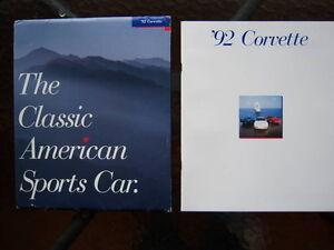 1992 Corvette dealer showroom catalog