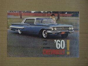 1960 Chevrolet Car Dealer Brochure.