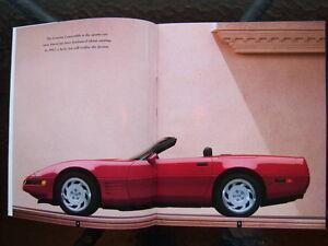 1992 Corvette dealer showroom catalog London Ontario image 2