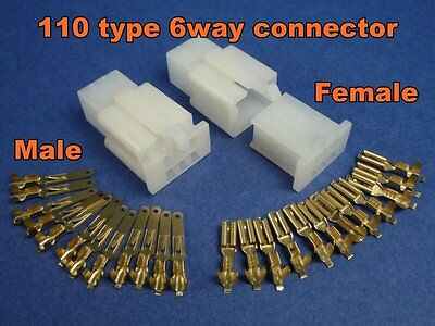 pins electrical wire connector terminal wiring motorcycle atv  you re almost done 6 pins electrical wire connector terminal wiring motorcycle atv