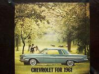 1961 Chevrolet dealer showroom catalog       Impala  Bel Air