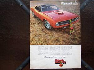 1970 Hemi Cuda ad.........Mopar Muscle Car.........Plymouth