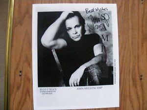 FS: John Mellencamp 8x10 Autographed black & white Photo