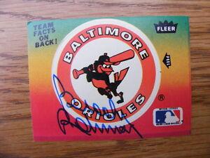 "FS: 1984 Fleer Brooks Robinson ""Autographed"" Baseball Card with"