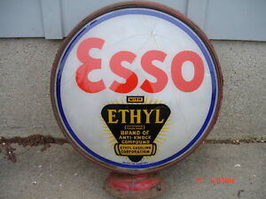 "Old "" ESSO with Ethyl "" Gas Globe lens or lenses"