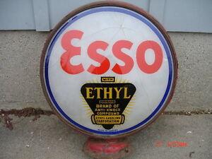 "Old "" ESSO with Ethyl "" Gas Globe lens or lenses"