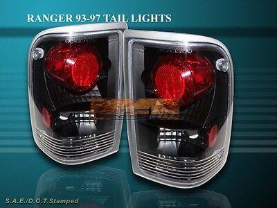 1993-1997 Ford Ranger Splash/stx/xl Altezza Tail Lights Black 1994 1995 1996